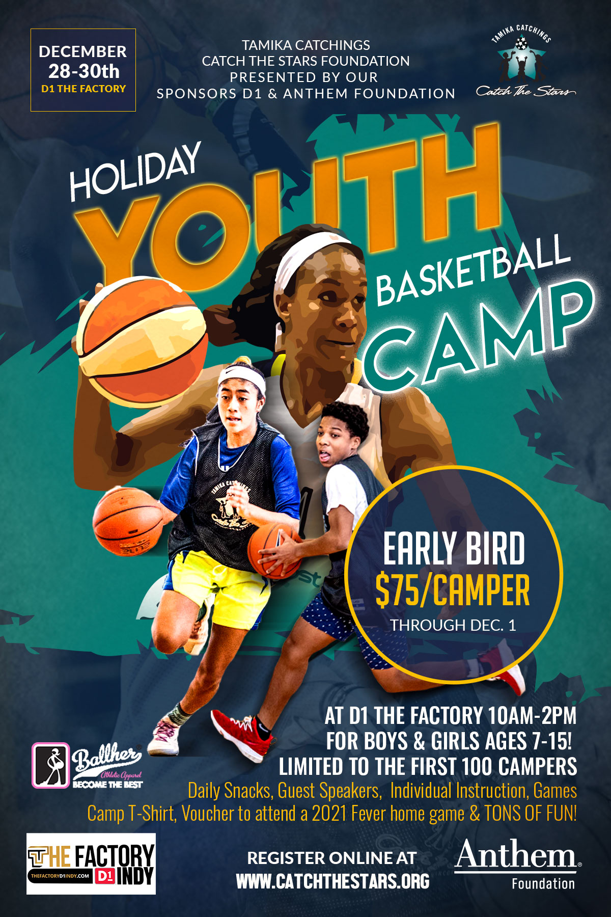 Catch the Stars Holiday Basketball Camp-2020